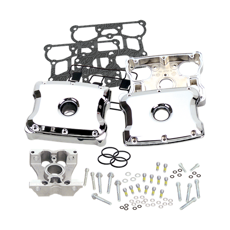 S&S - Rocker Box, Kit, Chrome, Die Cast, 4-1/8