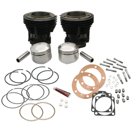 "93"" High Compression 3-5/8"" Big Bore Cylinder and Piston Kit for S&S SH93 Engines or 1966-84 HD<sup>®</sup> Big Twins With S&S 93"" Sidewinder Kit - Gloss Black Finish"