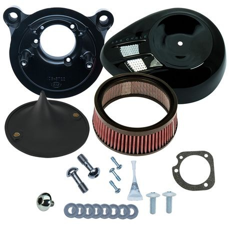 Stealth Air Cleaner Kit with Black Air Stream for 2001-'17 bt with Delphi<sup>®</sup> EFI, Except Throttle by Wire