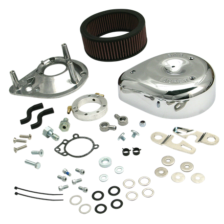 S&S<sup>®</sup> Teardrop Air Cleaner Kit for 1991-'06 HD<sup>®</sup> Carbureted XL Sportster<sup>®</sup> Models - Chrome