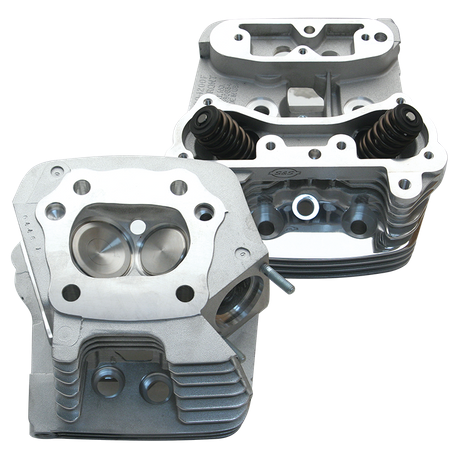 S&S<sup>®</sup> Performance Replacement Low Compression 82cc Cylinder Heads For 1984-'99 HD<sup>®</sup> Big Twins - Polished Aluminum Finish