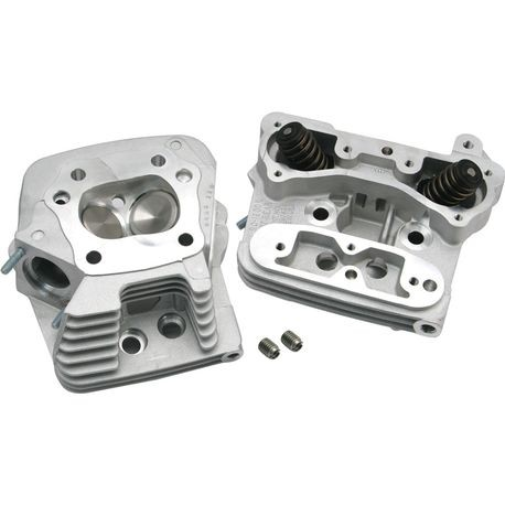 S&S<sup>®</sup> Performance Replacement Standard Compression 76cc Cylinder Heads For 1984-'99 HD<sup>®</sup> Big Twins - Natural Aluminum Finish