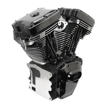 T124 Black Edition Longblock Engine for Select 1999-'06 HD® Twin Cam 88®, 95®, 103® Models - 585 GE Cams