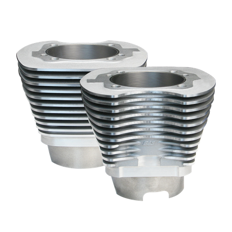 "4-1/8"" Bore Cylinder Set for 117"" and 117"" Dish Hot Set Up<sup>®</sup> Kits for 2007-'16 HD<sup>®</sup> Big Twin, 11 Fin - Silver"