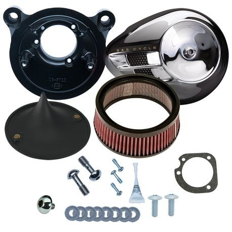 Stealth Air Cleaner Kit with Chrome Air Stream for 2001-'17 bt with Delphi<sup>®</sup> EFI, Except Throttle by Wire
