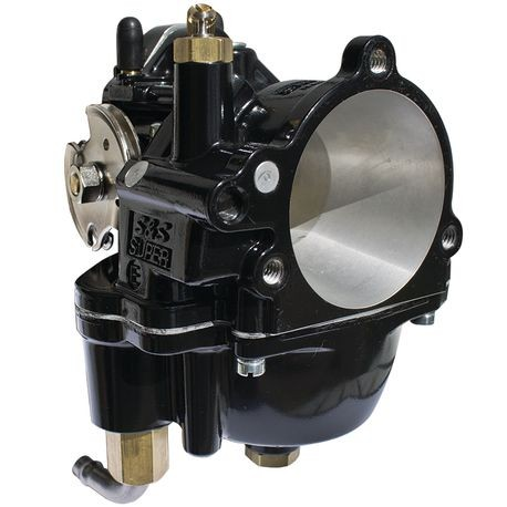 Black Super E Carburetor Assembly for 1955-''05 Big Twin Models and 1986-'06 HD<sup>®</sup> Sportster<sup>®</sup> Models