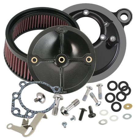 Stealth Air Cleaner Kit Without Cover for 1993-1999 HD<sup>®</sup> Big Twins With S&S<sup>®</sup> Super E/G Carburetor or S&S<sup>®</sup> 52mm Throttle Body