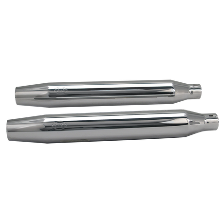 Tapered Shorty Slip-On Performance Mufflers for 2007-'16 HD<sup>®</sup> Softail<sup>®</sup> Standard, Heritage<sup>®</sup> and Rocker<sup>®</sup> Models - Chrome
