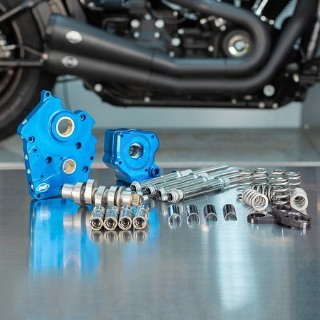 Chain Drive 540C Cam Chest kit with Chrome Pushrod Tubes for Water Cooled 2017-up M8 Models