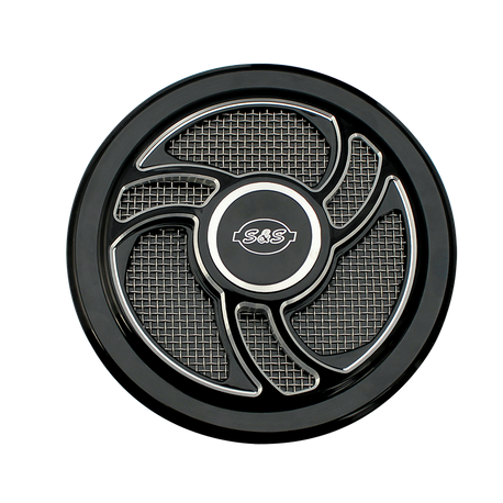 Torker Air Cleaner Cover in Gloss Black with Machined Highlights for all Stealth Applications