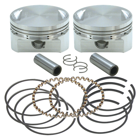 "31/2"" Bore Forged Stroker Piston Kits For Stock Heads Or S&S Performance Replacement Heads - +.020"""