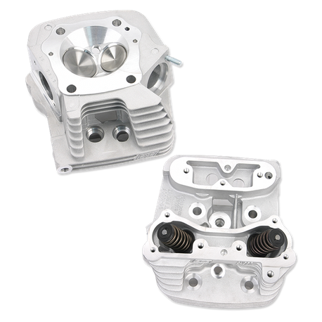 "Super Stock<sup>®</sup> Cylinder Head Kit For S&S<sup>®</sup> 4"" Bore V107 and V113 Engines For 1984-'99 HD<sup>®</sup> Big Twins - Natural Aluminum Finish"