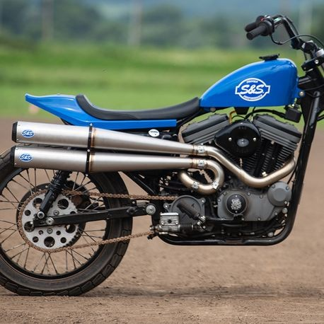 S&S Cycle Hooligan 2-2 Exhaust System for 1991-2019 Sportster<sup>®</sup> Models