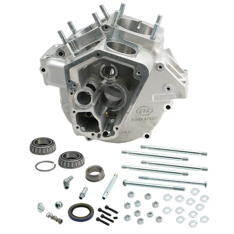 Super Stock<sup>®</sup> Alternator Style Crankcase for 1970-'84 Big Twins with Stock Bore - Natural