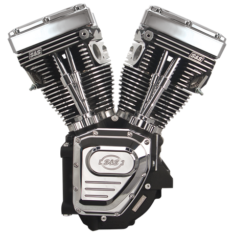 T124 Long Block Engine for 1999-2006 (except 2006 Dyna<sup>®</sup>) with 640 Cam - Wrinkle Black