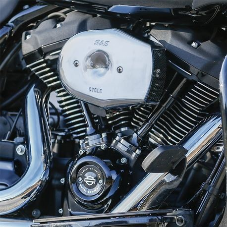 Stealth Air Cleaner Kit with Chrome Tribute Cover for 2017-2020 HD<sup>®</sup> M8 Models