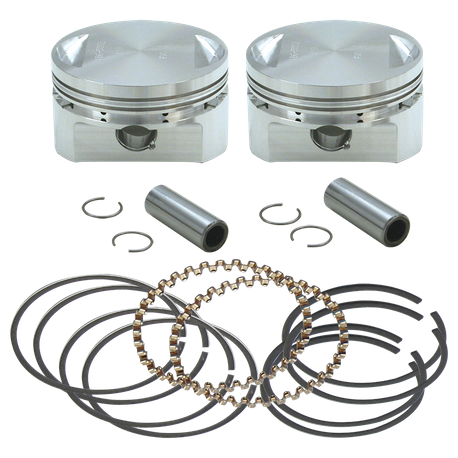 "31/2"" Bore Forged Stroker Piston Kits For Stock Heads Or S&S Performance Replacement Heads - +.030"""
