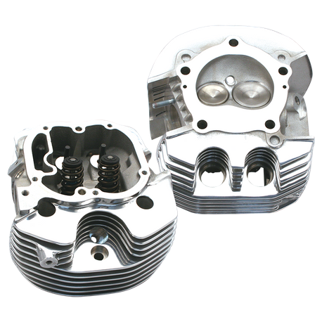 Replacement Cylinder Heads For All S&S® X-Wedge® Engines  Polished Aluminum  Finish