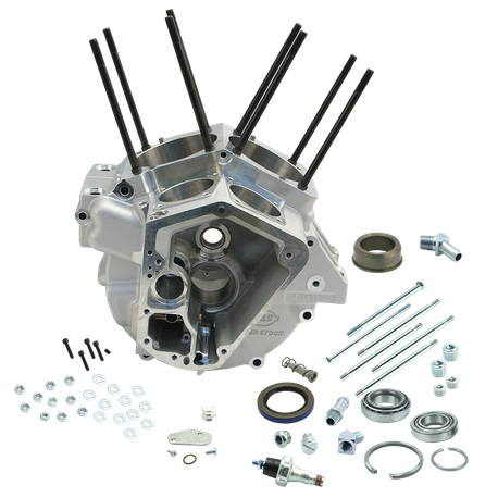 "Super Stock<sup>®</sup> Alternator Style Crankcase for 1984-'91 Big Twins with 3-5/8"" Bore - Natural"