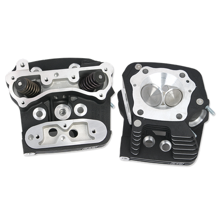 "Super Stock<sup>®</sup> Cylinder Head Kit For S&S<sup>®</sup> 4"" Bore V107 and V113 Engines For 1984-'99 HD<sup>®</sup> Big Twins -Wrinkle Black Powder Coat Finish"