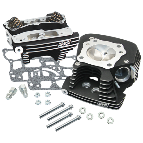 S&S<sup>®</sup> Super Stock<sup>®</sup> 79cc Cylinder Head Kit For 2006-'16 HD<sup>®</sup> Big Twins - Wrinkle Black Powder Coat Finish