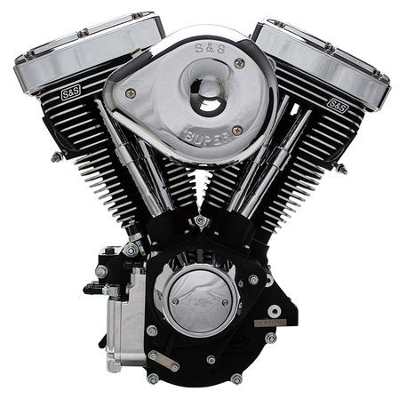 V80R Complete Assembled 50 State Legal Engine for 1984-'98 Carbureted Non-Catalyst Big Twins - Black Finish