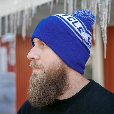 S&S<sup>®</sup> Cycle Royal Blue Pom Pom Beanie Hat