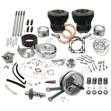 "Complete 93"" 3-5/8"" Big Bore Stroker Hot Set Up Kit For 1973-'77 Big Twins"