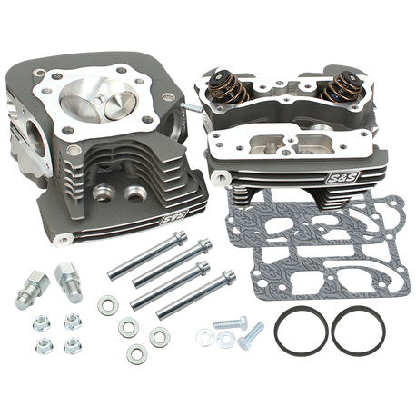 S&S<sup>®</sup> Super Stock<sup>®</sup> 91cc Cylinder Heads For For S&S<sup>®</sup> T124 T2 Long Block Engines and 2006 HD<sup>®</sup> Dyna<sup>®</sup> Models and All 2007-'16 Models With S&S<sup><sup