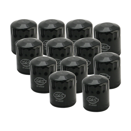 12 Pack of Black Oil Filter for 1999-'18 HD<sup>®</sup> Big Twins, 2017-'19 M8 & X-Wedge<sup>™</sup>