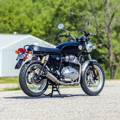 Qualifier 2-1 Race Only Exhaust System, Stainless Steel with Black Endcap for 2019-20 Royal Enfield<sup>®</sup> 650 Models