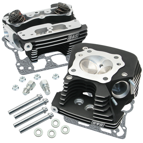 S&S<sup>®</sup> Super Stock<sup>®</sup> 89cc Cylinder Head Kit For 2006-'16 HD<sup>®</sup> Big Twins - Wrinkle Black Powder Coat Finish