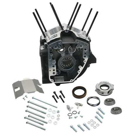 "Crankcase for 1999–'06 HD<sup>®</sup> Twin Cam 88<sup>®</sup> A Engines (except 2006 HD<sup>®</sup> Dyna<sup>®</sup>), 4-1/8"" Bore, Stock Stud Pattern - Wrinkle Black"