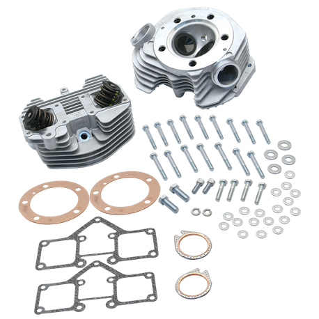 "S&S<sup>®</sup> Super Stock<sup>®</sup> 3-5/8"" Bore Band Style Single Plug Cylinder Head Kit for 1979-'84 Big Twins - Natural Aluminum FInish"