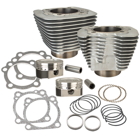 883 to 1200cc Conversion Kit for 1986-2018 HD® Sportster® Models - Silver  Finish