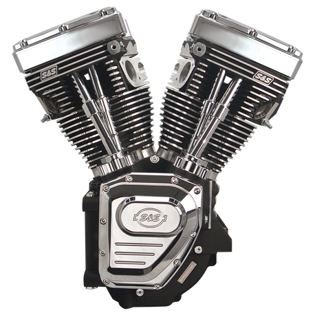 T124LC Long Block Engine for 1999-2006 (except 2006 Dyna<sup>®</sup>) with 585 Cam - Wrinkle Black