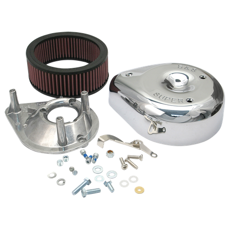 S&S<sup>®</sup> Teardrop Air Cleaner Kit For S&S<sup>®</sup> Super E & G Carburetors For 1955-'84 HD<sup>®</sup> Big Twins and 1957-'85 Sportster<sup>®</sup> Models.