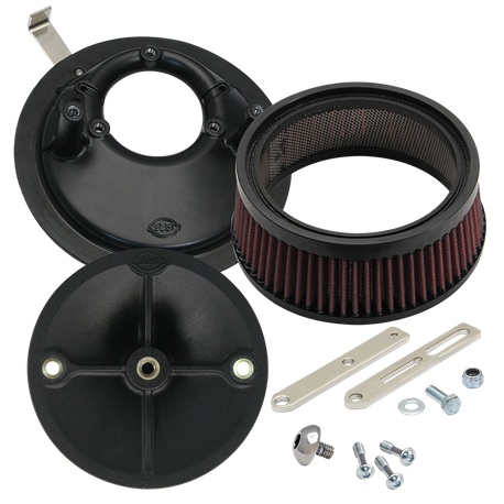 Universal Stealth Air Cleaner Kit for 1936-'92 HD<sup>®</sup> Big Twins & 1957-'90 Sportster<sup>®</sup> Models with Super E&G Carbs