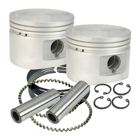 "S&S<sup>®</sup> 80"" Cast Flat-Topped Replacement Piston Kits For 1984-'99 HD<sup>®</sup> Big Twins W/ Stock Heads or S&S Performance Replacement Heads - .020"""
