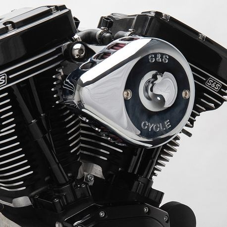 S&S<sup>®</sup> Chrome Mini Teardrop Stealth Air Cleaner Kit for 2008-'16 HD<sup>®</sup> Touring,'16-'17 Softail<sup>®</sup> Models