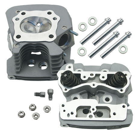 S&S<sup>®</sup> Super Stock<sup>®</sup> 79cc Cylinder Head Kit For 1999-'05 HD<sup>®</sup> Big Twins - Silver Powder Coat Finish