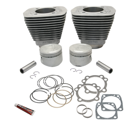 "89"" 3-1/2"" Bore Cylinder and Piston Kit For 1984-'99 Big Twins With Stock Cylinder heads and 4-5/8"" Stroke Flywheels - Natural Aluminum Finish"