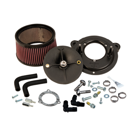 S&S<sup>®</sup> Stealth Air Cleaner Kit Without Cover For 2008-'16 HD<sup>®</sup> Touring Models, 2009-'16 Tri-Glide, and 2011 Softail CVO with S&S<sup>®</sup> 70mm Throttle Hog