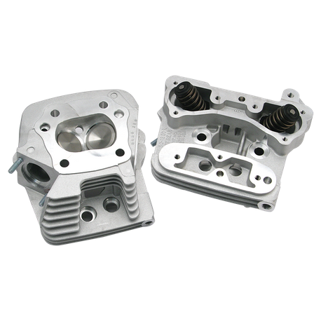S&S<sup>®</sup> Performance Replacement Low Compression 82cc Cylinder Heads For 1984-'99 HD<sup>®</sup> Big Twins - Natural Aluminum Finish