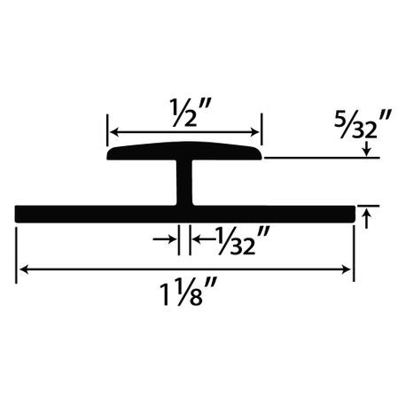 1 8 Quot Styrene Divider Moulding 8 Length Outwater