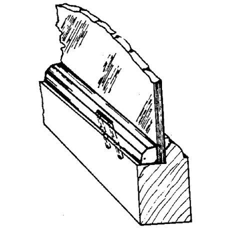 14 X 516 Black Semi Gloss Pvc Staple Type Panel And Glass