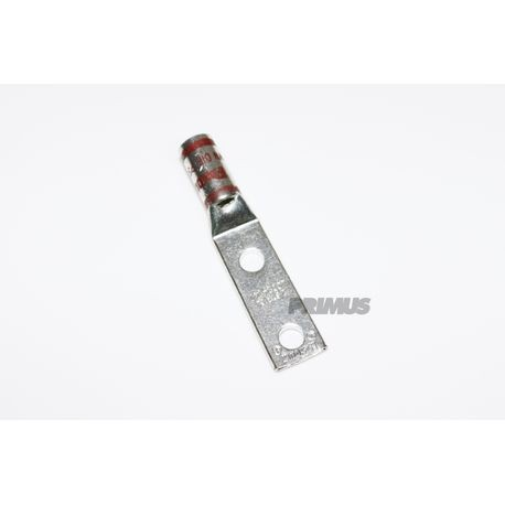 #2 AWG LUG, WITH INSPECTION WINDOW, 2 HOLE, 1/4 IN. STUD 1 IN. SPACING