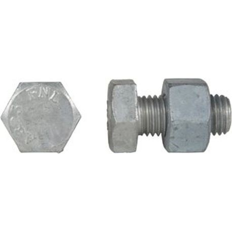 "1/2"" X 1-1/2"" GALVANIZED BOLT WITH NUT, A325"