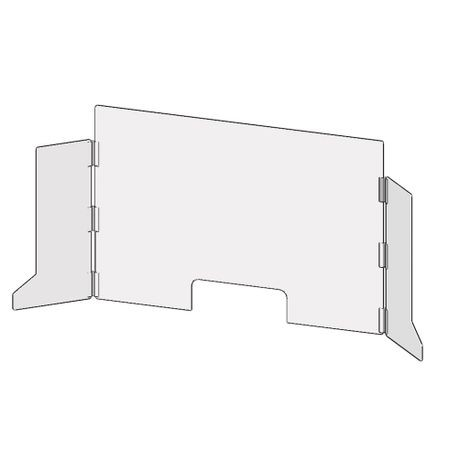 Accuform® Accu-Shield™ PRL701 SG Clear Barrier Panel: Countertop-Desktop Panel with Side Wings
