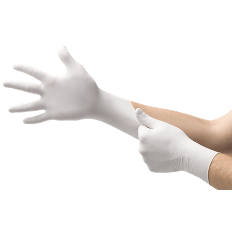 Ansell® Microflex® TQ-601 Soft White Nitrile Disposable Gloves